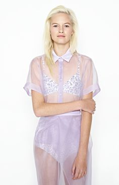 joellyn, square organza shirt (now in stock)