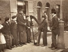 Photographer: John Thomson Italian Street Musicians  [Street Life in London]  1877 Woodburytype #vintage London School of Economics - Digital Library...