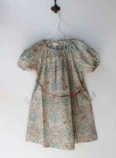 Gorgeous voile or lawn print peasant dress