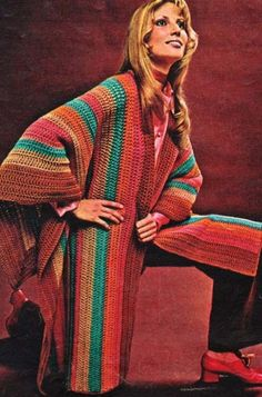 Crocheted Ruana Cape Shawl Wrap Crochet Pattern
