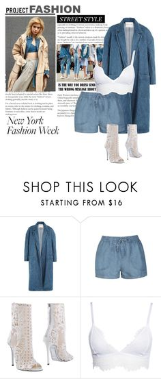 """New York"" by yendry-mariela-garcia-perez ❤ liked on Polyvore featuring Sandy Liang, Ally Fashion and Balmain"