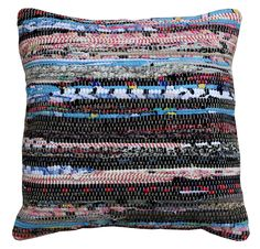 """""""Kaleidoscope"""" is a mix of colours and black materials - mainly cotton. Excess materials have been used from the fashion industry in india. Good karma for your home! #fromexcesstoexclusive"""