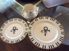 Prince and Mayte china - Love symbol and piano keys of course.
