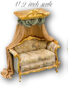 Miniature Dollhouse Furniture by June Clinkscales -1/2 scale
