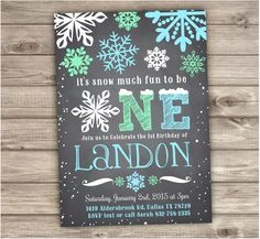 A personal favorite from my Etsy shop https://www.etsy.com/ca/listing/259294538/winter-onederland-snowflake-birthday-boy