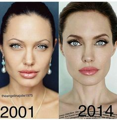 Remember Angelina Jolie's Lookalike Who 'Had A Plastic Surgery' To Resemble Her? She Faked It Do you remember the Angelina Jolie lookalike who supposedly got plastic surgery to resemble the star? Well, this is how she really looks . Angelina Jolie Plastic Surgery, Angelina Jolie Makeup, Angelina Jolie Pictures, Angelina Jolie Photos, Celebrity Plastic Surgery, Jolie Pitt, Look Alike, Beauty Hacks, Face