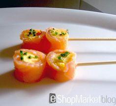 Rollito de salmón con mantequilla de cítricos, aperitivos para sorprender