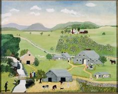The Old Oaken Bucket, 1943 - Grandma Moses