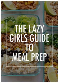 Busy week? Don't feel like meal prepping? The lazy gils guide to meal prep will make your Sunday meal prep a breeze, so you can eat healthy all week long.  http://Womanista.com