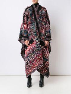 Chloé knitted boucle blanket coat