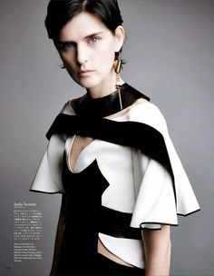 Stella Tennant by Patrick Demarchelier for Vogue Japan October 2014
