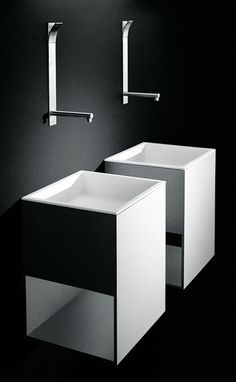 Jeffrey Bernett for Boffi | BOX wallmount Cristalplant® washbasin