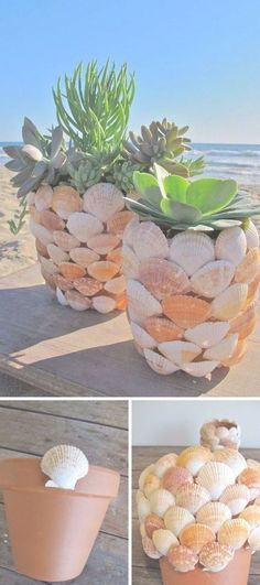 Outstanding 80 Brilliant DIY Vintage and Rustic Garden Decor Ideas on a Budget Ye … - Diy Garden Projects Easy Crafts For Teens, Diy Crafts To Sell, Sell Diy, Diy Garden Projects, Diy Projects To Try, Garden Ideas, Project Ideas, Seashell Crafts, Beach Crafts
