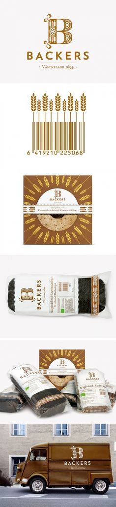 Backers yummy bread #identity #packaging #branding by Neumeister