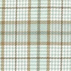 Use this old fashioned cotton upholstery fabric by Roth and Thompkins in tan, pale blue and white mixture of plaid/check/houndstooth to bring your upholstered piece to life.v205ARET