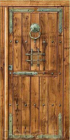 Lesser Seen Options for Custom Wood Interior Doors Custom Wood Doors, Rustic Doors, Wooden Doors, The Doors, Windows And Doors, Entrance Doors, Panel Doors, Medieval Door, Wooden Facade