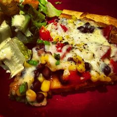 Smoky Corn and Black Bean Pizza - ★★★★★