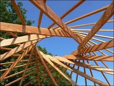 Struggling With Your Roof? - Jack's Roofing Tips and Guide Woodworking Business Ideas, Woodworking Plans, Woodworking Projects, Timber Structure, Dome House, Natural Building, Geodesic Dome, Round House, Roof Design