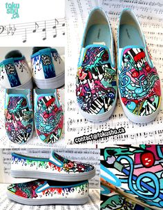 shoes with music | Painting Music - Custom Shoes by artsyfartsyness