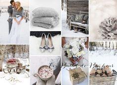 Inspiration Mariage en Hiver snowflakes pinecone winter white grey