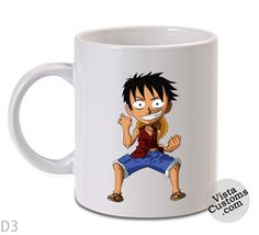 chibi luffy color Mug, Coffee mug coffee, Mug tea, Design for mug