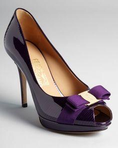 Salvatore Ferragamo Pumps - Talia High Heel Peep Toe Platform | Bloomingdale's