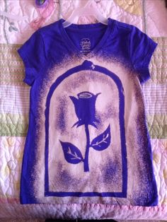 Enchanted Rose from Beauty and the Beast Bleached shirt I made for my niece.