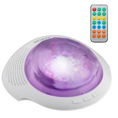 SOAIY Remote Bluetooth Aurora Nightlight Projector and Sleep Soother Sound Machine, White Noise Machine, Relaxing Light Show for Kids and Adults, Baby Nursery Kids Bedroom Living Room Night Light