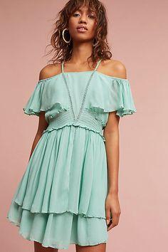 Maeve Elisa Ruffled Open-Shoulder Dress #ad