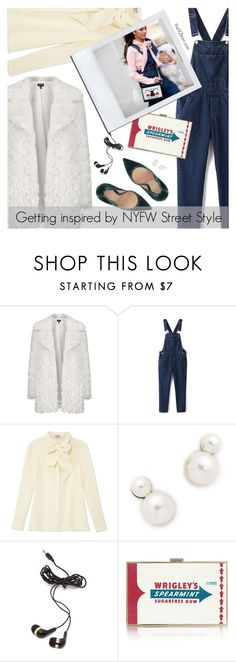 """Day One: The Best NYFW Street Style"" by the92liner ❤ liked on Polyvore featuring Topshop, Frame Denim, Auden, Forever 21, Anya Hindmarch, Gianvito Rossi, women's clothing, women, female and woman"