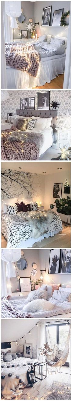When light string comes across with bedroom decor...That's amazing.It can let every bedroom be warm and cozy.Can't wait to have one.