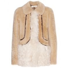 Shearling-Jacke * Marni Edition - I love this so much! Clean and fluffy = heavenly prepared for winter time! Moncler, Shearling Jacket, Fur Coat, Gucci, Denim Fashion, Marni, Designer, How To Wear, Shopping