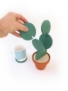 Set of Coasters Look Like A Cactus