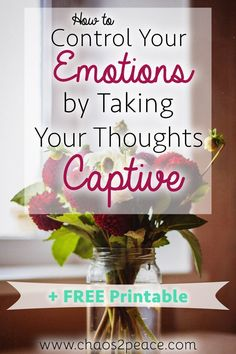 Have your emotions ever taken over you? Do you want to know how to change from the inside out? Try this technique of taking your thoughts captive. It really will work.