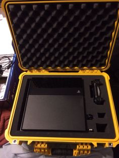 For the people traveling with a PS4 I give you my Pelican Case setup to keep things safe. : PS4