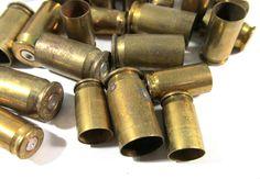 Bullet Casings BRASS Assorted Lot Twenty Four (24) Jewelry Art Supplies Ammo BULLETS Empty Brass Rounds Empty Cases Reloads Destash (A66) by punksrus on Etsy
