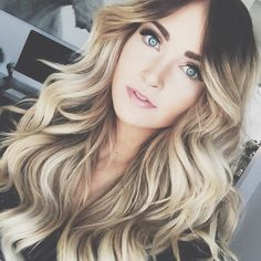 Cara loren is rocking her NEW Balayage ombre 8/60 Ash Brown to Ash Blonde by Guy Tang! Use code 'caraloren' to save some $$ off your set!