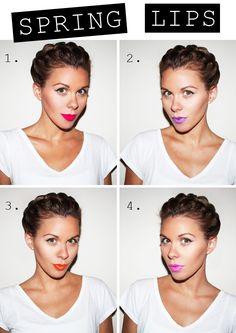 Spring lipstick shades.