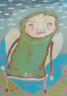 Outsider Art  Colorful Art  Uplifting Art  Green by ArtBeatriceM