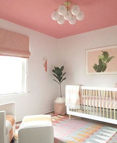 An absolutely gorgeous nursery from pretty much perfection! - Pink kids bedrooms, Kids bedroom inspiration, Small kids bedroom, Pink bedroom decor, Interior design be - Pink Bedroom Decor, Small Room Bedroom, Kids Bedroom, Bedroom Lamps, Bedroom Ideas, Bedroom Lighting, Childrens Bedroom, White Bedroom, Bedroom Inspiration