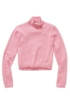 The Best Sweaters For $50 Or Less #refinery29  http://www.refinery29.com/affordable-winter-sweaters-under-50#slide-6  The cropped, tight fit and bubblegum-pink hue make this sweater a #TBT: throwback turtleneck. At aritzia for $25
