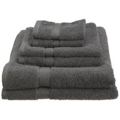 #3: Pinzon Basics/Pike Street 100-Percent Egyptian Cotton 725-Gram 6-Piece Towel Set, Gray