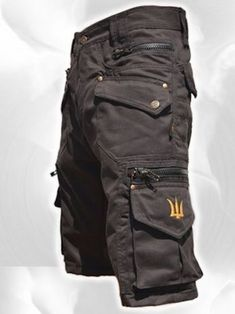 Men Short Pants Hipster, Tribal, Steampunk, Cargo Pants, Burning Man, Suit, Pocket Pants,Brass Hard Wear,Gift For Men .Psy Trance Boho.Gift