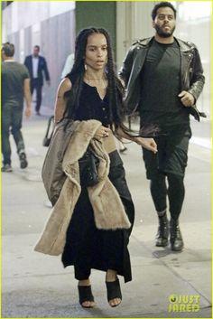 Zoe Kravitz & Boyfriend Twin Shadow Check Out 'Hamilton' on Broadway in NYC