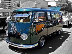 Green Volkswagen Kombi Van