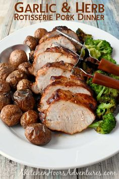 Garlic & Herb Rotisserie Pork Dinner #SmithfieldFresh #CollectiveBias