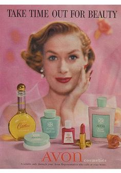 AVON, 1956, i actually Do like Avon makeup, love love the eyeshadow and mascara!
