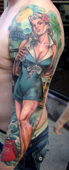 Coca Cola Pin Up Girl Tattoo - Hannah Aitchison
