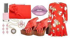 """""""Beautiful Day"""" by gabbie-glorious ❤ liked on Polyvore featuring Topshop, Lime Crime, Miadora, New Directions and blockheels"""