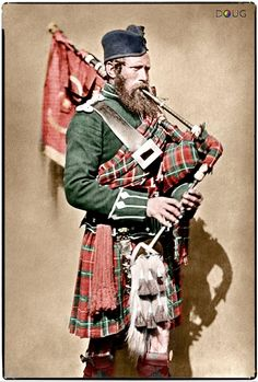 Pipe-Major John Macdonald, 72nd (Duke of Albany's Own Highlanders) Regiment of Foot, 1856.